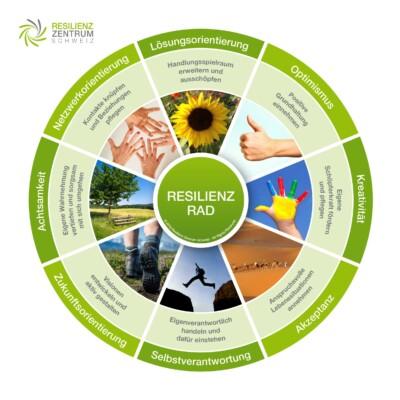 Resilienz-Rad mit 8 Faktoren