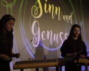 Hackbrettmusikerinnen spielen bei Sinn und Genuss